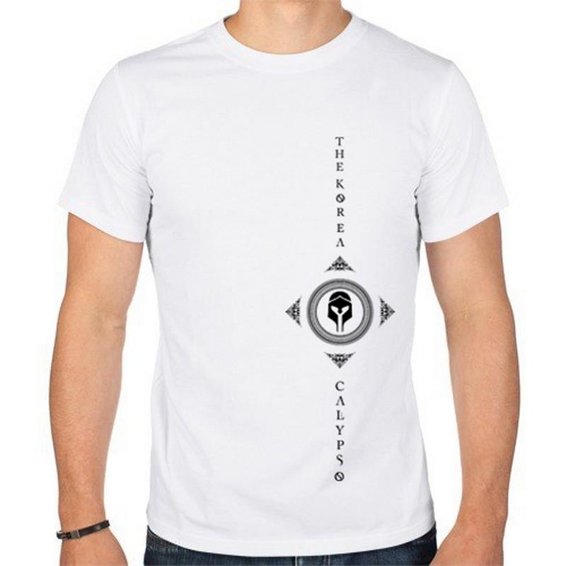 "THE KOREA - футболка ""Шлем"" (белая)"