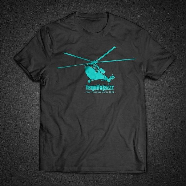 "TEQUILAJAZZZ - футболка мужская ""family"" (темно-серая)"