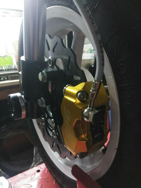 KAYO MiniGP MR125 - 150 245mm Floating Rotor Big Brake Kit with 4 Piston Caliper