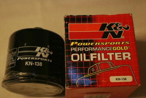 DL650 and  DL1000 K&N #138 High Performance Oil Filter