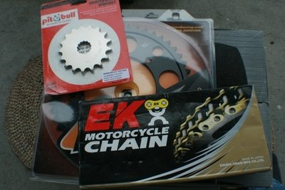 DL1000 Vstrom 525 Chain and Sprocket Combination