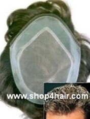 M-M-NI Extended French lace front hair replacement system  Available in 3 sizes