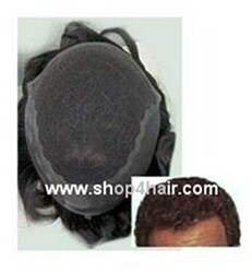 GQ 6000 NI- French Lace front Hair Replacement system Base size 8 X 9 3/4