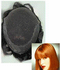 Ladies CQ6000 NI French lace Front Hair system for the top of the head Length - 12