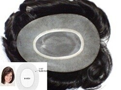 """Ladies TURQUOISE HV hair replacement system For the top of the head, SIZE: 5"""" X 7""""  , DENSITY: Medium, LENGTH: 10"""" ,100% Human Hair"""