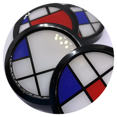 Mondrian Inspired Art Coasters, Set of 4