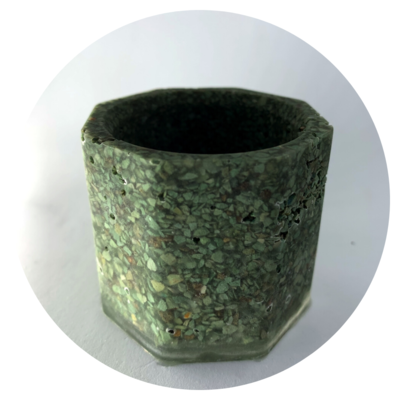 Octagonal Resin Pot with Zeolite