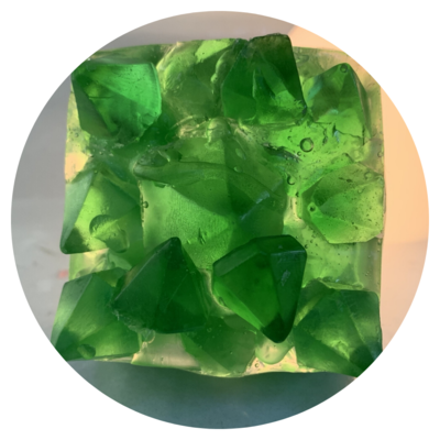 Gem Stone Soap - Elegant Emeralds