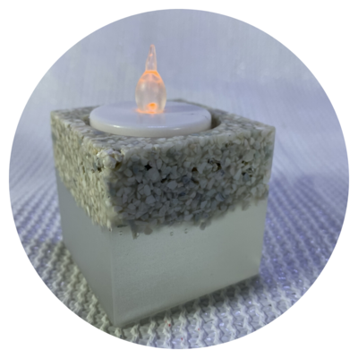 Tealight Candle Holder - Design #03a with Zeolite Finish