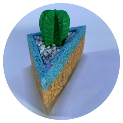 Triangular Resin Planter - 1 Medium (Design 1)
