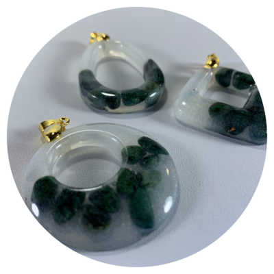 A Story of Stones - Series 1, Set of 3 Pendants
