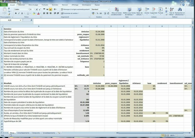 Fonctions financières (Excel)