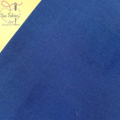 Navy 100% Craft Cotton Solid Fabric Plain Dark Blue Material