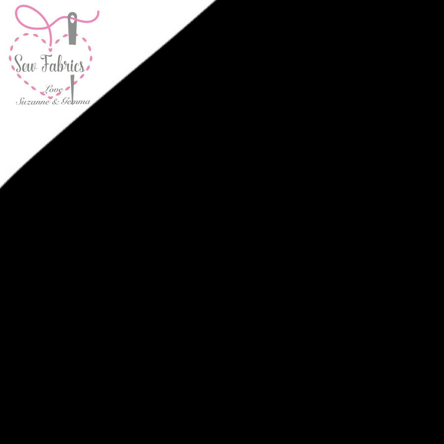 Black 100% Craft Cotton Solid Fabric Plain Black Material