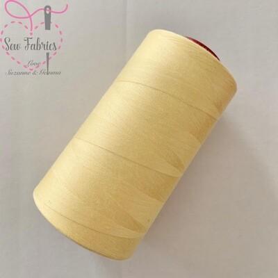 5000y Moon Polyester Thread Cone, Overlocker - Cream