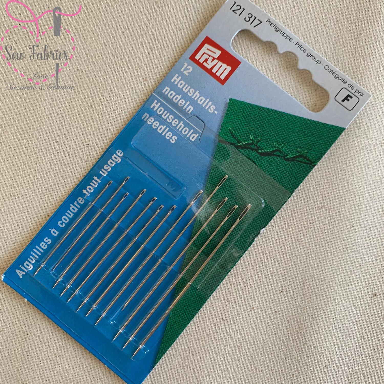 Prym Set of 12 Assorted Household Sewing Needles (Hardened Steel)