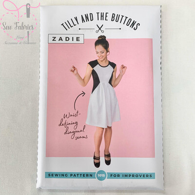 Zadie Dress Printed Sewing Pattern by Tilly and The Buttons