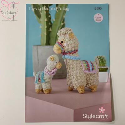 Llama and Baby Toys - Stylecraft Crochet Printed Pattern
