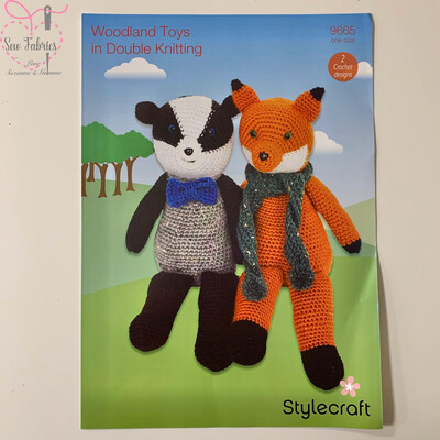 Woodland Toys, Badger And Fox - Stylecraft Crochet Printed Pattern