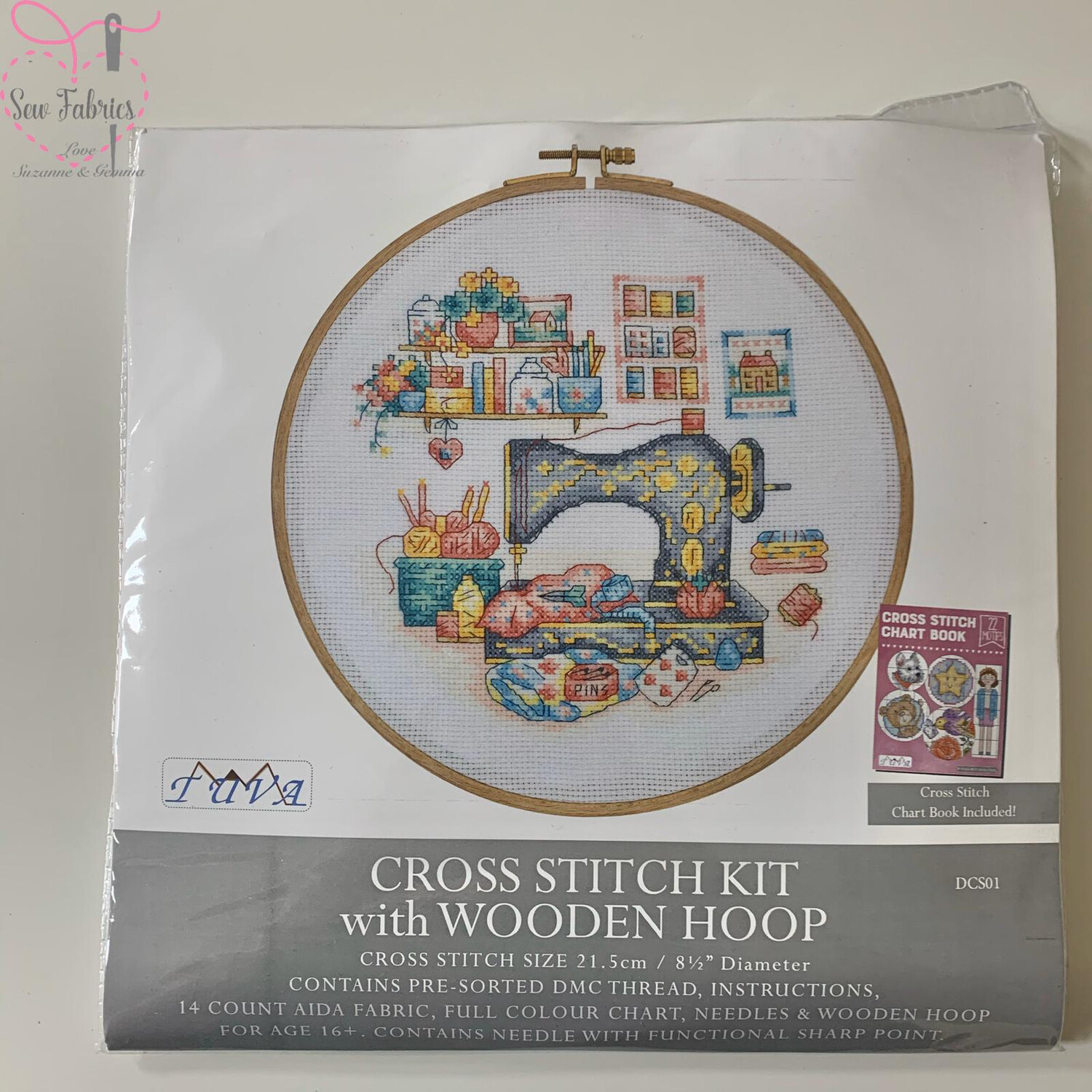 The Sewing Box DMC Cross Stitch Hoop Kit
