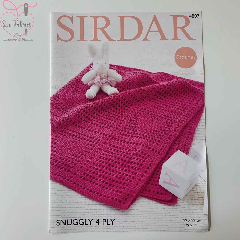 Love Heart Snuggly Blanket - Sirdar Crochet Printed Pattern,  4 Ply