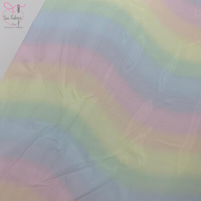 Rainbow Mesh Netting Fabric Colour 1, Pastel Rainbow Net, 58