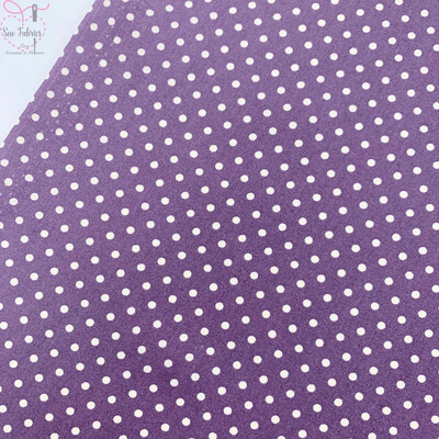 Rose and Hubble Plum Polka Dot Fabric 100% Cotton Poplin Spot Geometric Material