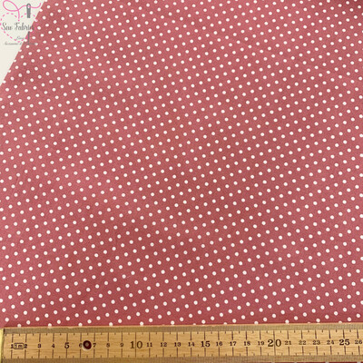 Rose and Hubble Pink Polka Dot Fabric 100% Cotton Poplin Spot Geometric Material