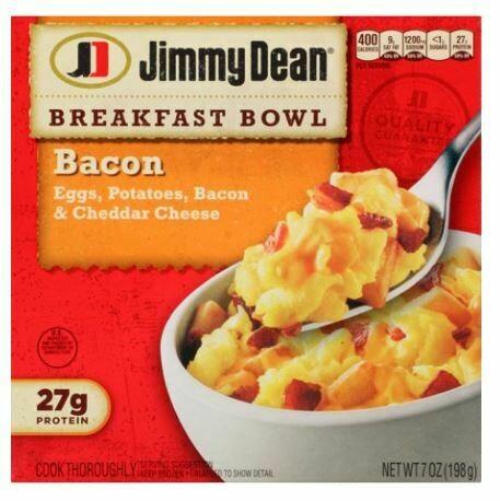 """Frozen Breakfast Bowl, Jimmy Dean® Breakfast Bowl """"Bacon"""" (7 oz Box)"""