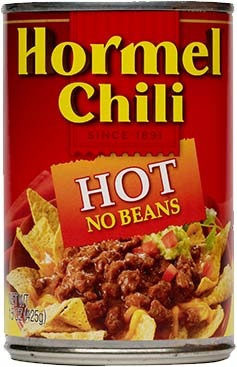 Canned Chili, Hormel® Hot Chili with No Beans 15 oz Can