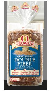 Loaf Bread, Oroweat® Double Fiber® Bread (24 oz Bag)