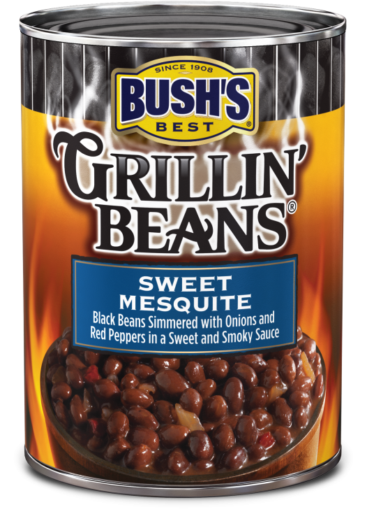 Canned Beans, Bush's® Grillin' Beans® Sweet Mesquite Beans (22 oz Can)