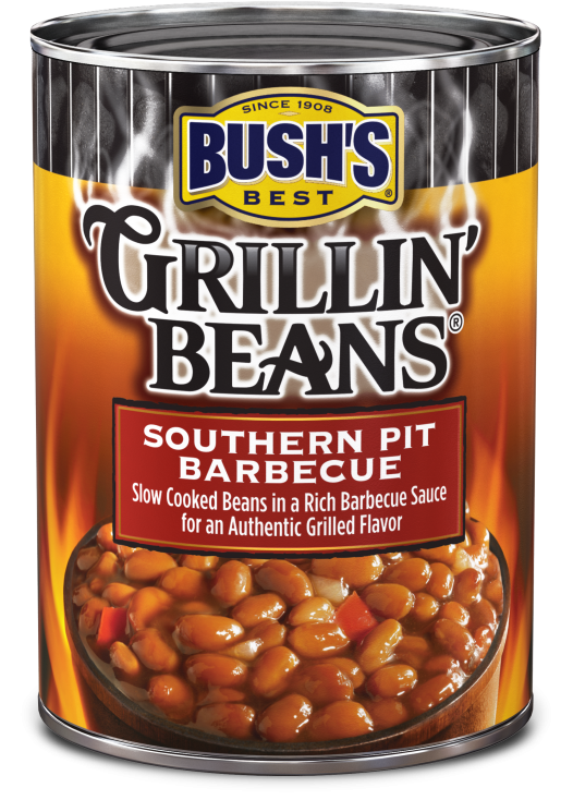 Canned Beans, Bush's® Grillin' Beans® Southern Pit Barbecue Beans (22 oz Can)