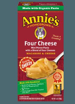 Mac N Cheese Pasta, Annie's® Four Cheese Macaroni & Cheese (5.5 oz Box)