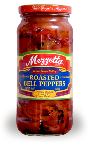 Preserved Peppers, Mezzetta® Roasted Red Bell Peppers (16 oz Jar)