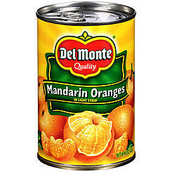 Canned Fruit, Del Monte® Mandarin Oranges, Light Syrup (15 oz Can)