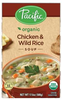 Boxed Organic Soup, Pacific® Organic Chicken Wild Rice Soup (17.6 oz Box)