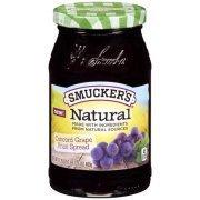 Fruit Spread, Smucker's® Natural Concord Grape Fruit Spread (17.25 oz Jar)