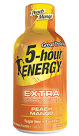 Energy Drink, 5 Hour Energy® Extra Strength Peach Mango, 1.93 oz (2 Bottles)