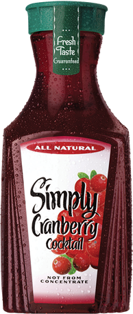 Juice Drink, Simply Cranberry® Cocktail Juice (52 oz Bottle)
