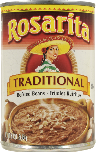 """Canned Refried Beans, Rosarita® """"Traditional"""" Refried Pinto Beans (16 oz Can)"""