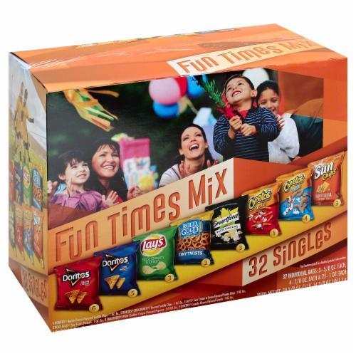 """Lunch Size Chips, Frito-Lay® """"2Go Fun Times Mix"""" (32 Bag Count, 31.13 oz Box)"""