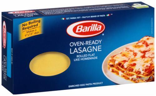 Lasagna Pasta, Barilla® Oven Ready Lasagna Pasta (9 oz Box)