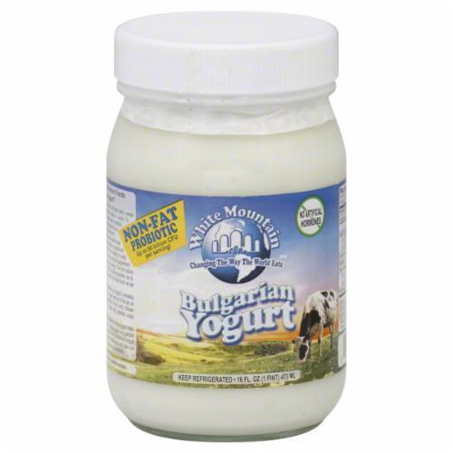 Yogurt, White Mountain® Non Fat Bulgarian Yogurt (16 oz Jar)