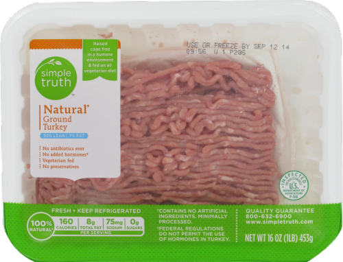Ground Turkey, Simple Truth™ Ground Turkey 93% Lean (1 lb Tray)