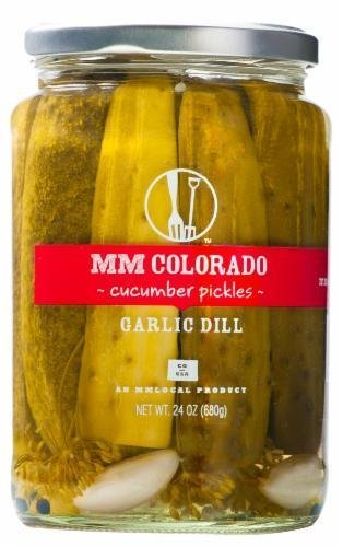 Preserved Pickles, MM Colorado® Garlic Dill Cucumber Pickles (24 oz Jar)