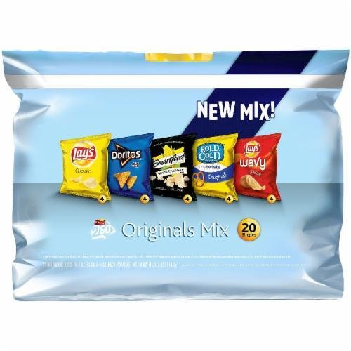 "Lunch Size Chips, Frito-Lay® ""2Go Originals Mix"" (20 Bag Count, 20 oz Bag)"