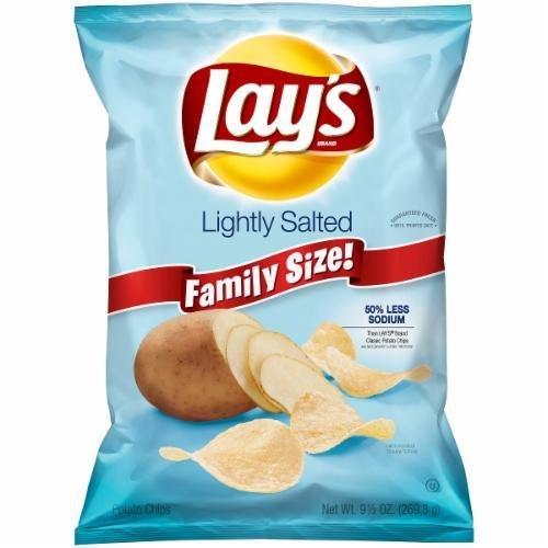 "Potato Chips, Lay's® ""Family Size"" Lightly Salted Potato Chips (9.5 oz Bag)"