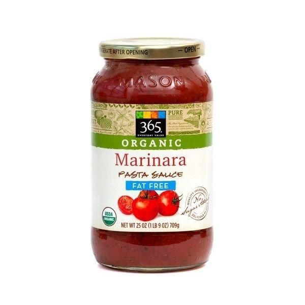Marinara Pasta Sauce, 365® Organic Fat-Free Marinara Pasta Sauce (25 oz Jar)