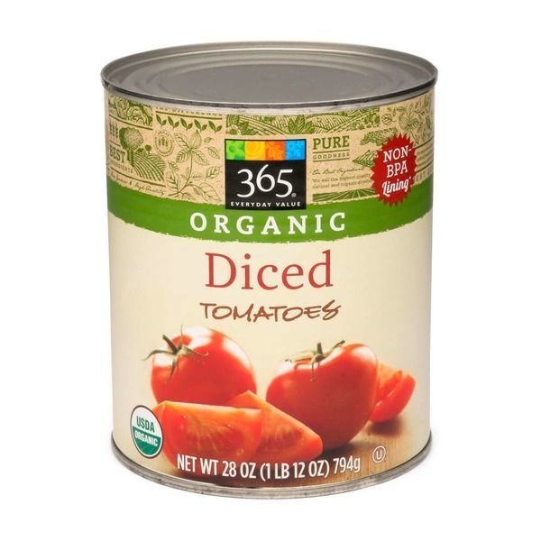 Canned Tomato, 365® Organic Diced Tomatoes (28 oz Can)